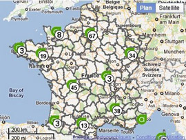 Carte des formations Afpa